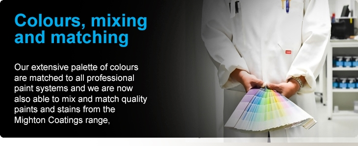 Colours, mixing and matching