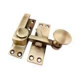 Quadrant Arm Sash Fastener Antique Brass