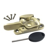 Fitch Fastener Locking - Antique Brass-10mm Keep