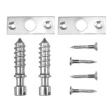 Slotted Hinge Screw- Chrome