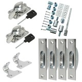 Sash Kit 50kg Pulley with Locking Fitch Fastener- Chrome