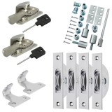 Sash Kit 50kg Pulley with Locking Fitch Fastener- Satin Chrome