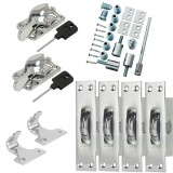 Sash Kit 80kg Pulley with Locking Fitch Fastener- Chrome
