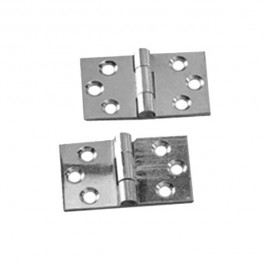 Baton Rod Hinge- Chrome