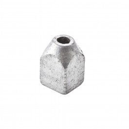 1 LB ROUND TOP SQUARE BODY LEAD DEFLECTOR WEIGHT (30mm Dia X 50mm Long)
