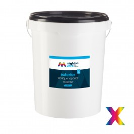exterior topcoat white matt 2.5l