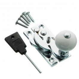 Hook Fastener- Ceramic Knob - Locking - Chrome Plated- Dimensions