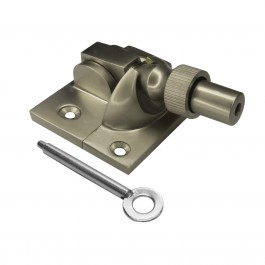 Locking Brighton Sash Fastener - Satin Nickel