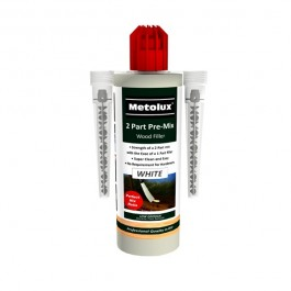 Metolux 2 Part Pre Mix Wood Filler & 2 Mixers -300g- White