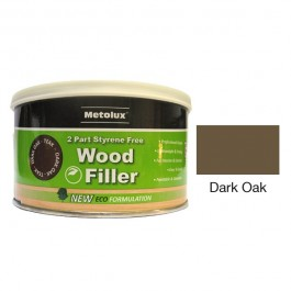 Metolux 2 Part Styrene Free Wood Filler 275ml- Dark Oak colour
