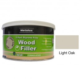 Metolux 2 Part Styrene Free Wood Filler 275ml- Light Oak colour