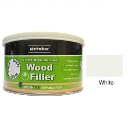 Metolux 2 Part Styrene Free Wood Filler 275ml- White colour