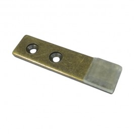 Mini Strike Plate - Antique Brass