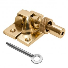 Locking Brighton Sash Fastener - Solid Brass