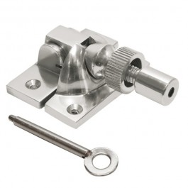 Locking Brighton Sash Fastener - Satin Chrome
