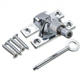Mini Locking Brighton Sash Fastener - Polished Chrome