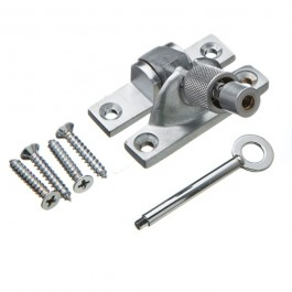 Mini Locking Brighton Sash Fastener - Satin Nickel