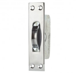 2 1/4 Square End Square Groove Pulley Chrome