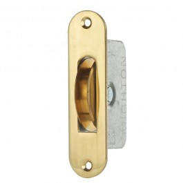 "2 1/4"" Round End/Square Groove Pulley - Brass"