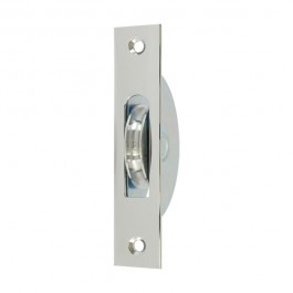 """1 3 4"""" Square End Round Groove Pulley Chrome"""