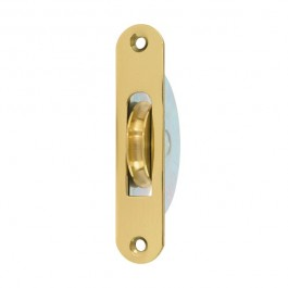 "1 3 4"" Round End Round Groove Pulley Brass"