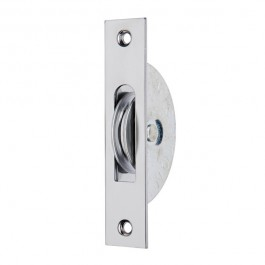 "1 3/4"" Square End/Round Groove Pulley - Satin Chrome"