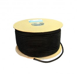 6mm Black Polyester Sash Cord - 100m Roll