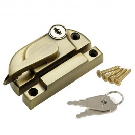 Securifitch Locking Right Hand & 11mm Keep- Antique Brass
