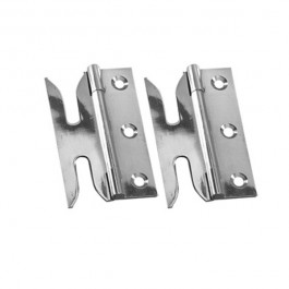 Slotted Hinge- Chrome