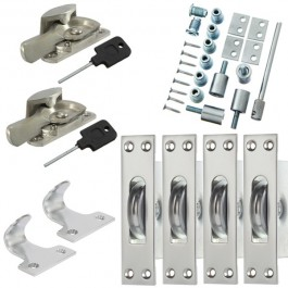 Sash Kit 80kg Pulley with Locking Fitch Fastener- Satin Chrome