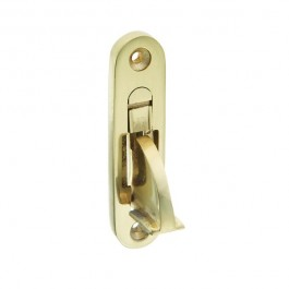 Weekes Stop - Round End - Polished Brass