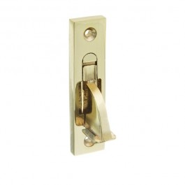 Weekes Stop - Square End - Polished Brass